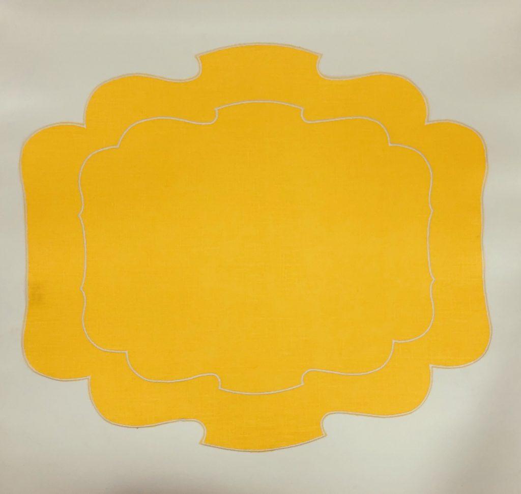 waxed line yellow mat