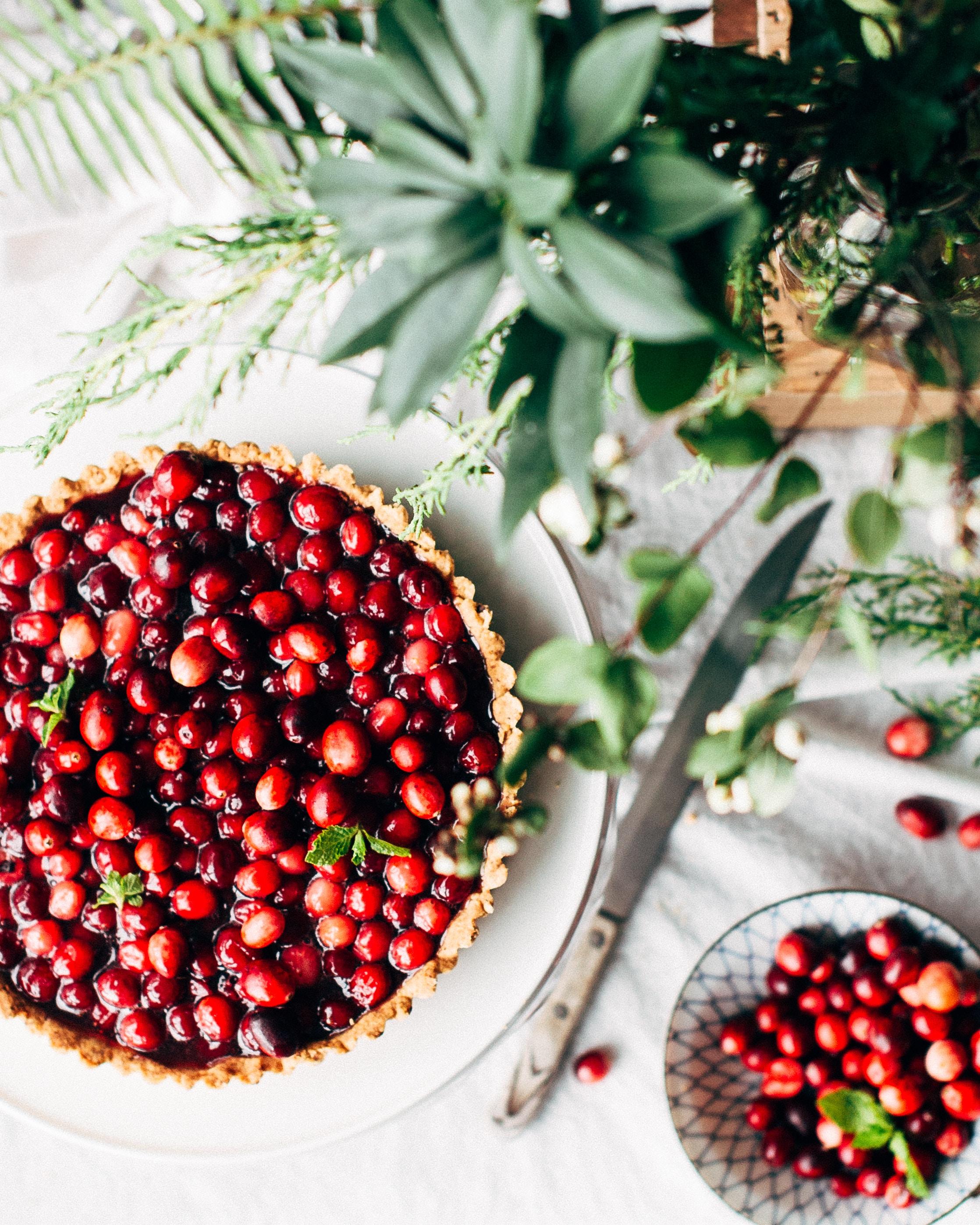 healthy Christmas tart